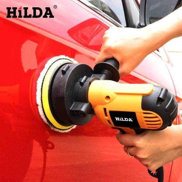 HILDA 600w 5\ 5inch 125mm Electric Car Polisher Polishing Machine Waxing Machine Speed Adjustable Car Polisher Electric Car Polisher Marble Polish Wax Mesin Polish Polishing Machine Power Tools