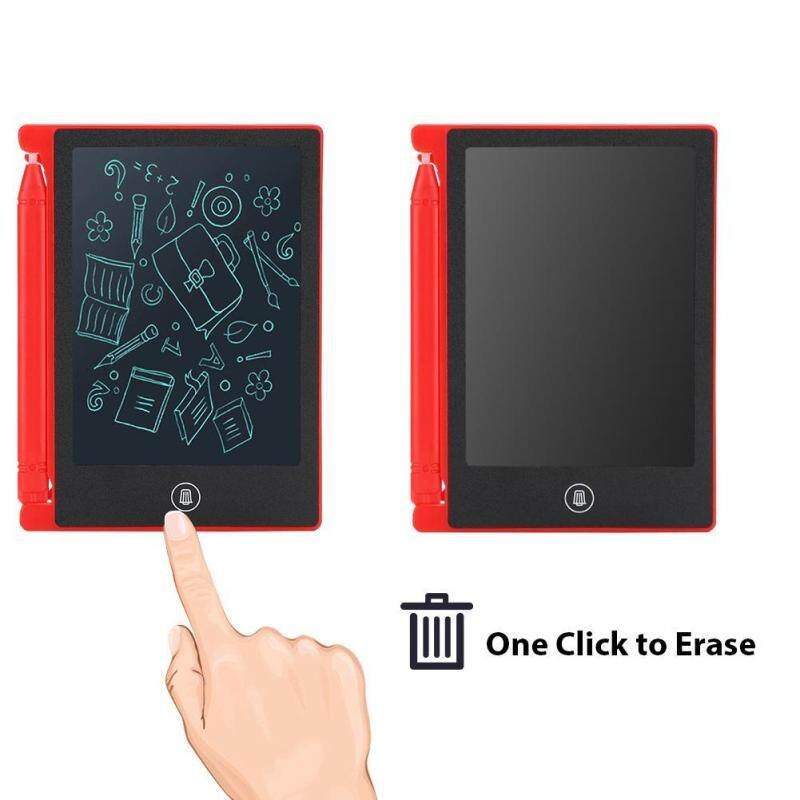LCD 4.5inch Ultra-thin Handwriting Tablet Writing Drawing Notebook Board for Children Kids red