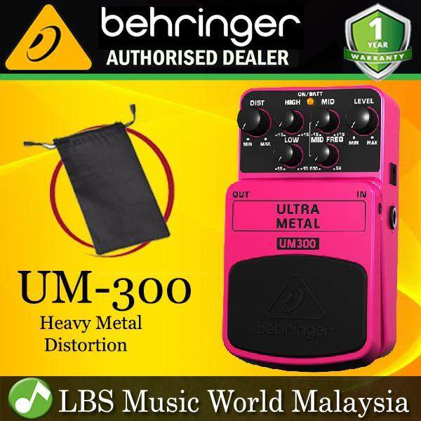 Behringer UM-300 Heavy Metal Distortion Guitar Effects Pedal (UM300 UM 300) Malaysia