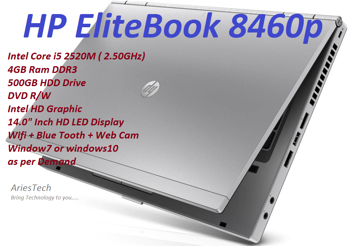 HP EliteBook 8460P Laptop Intel Core i5 Notebook Intel Core i5 Laptop Business Edition Intel Core i5-2520M (2.50GHZ) 14.0 HD LED Display used Malaysia