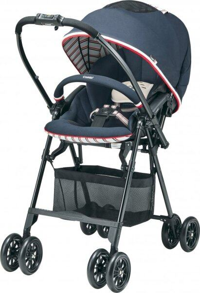 Combi (Combi) stroller Mecha Cal handy egg shock MG target tricolor Navy until age 1 month to 36 months around May Singapore