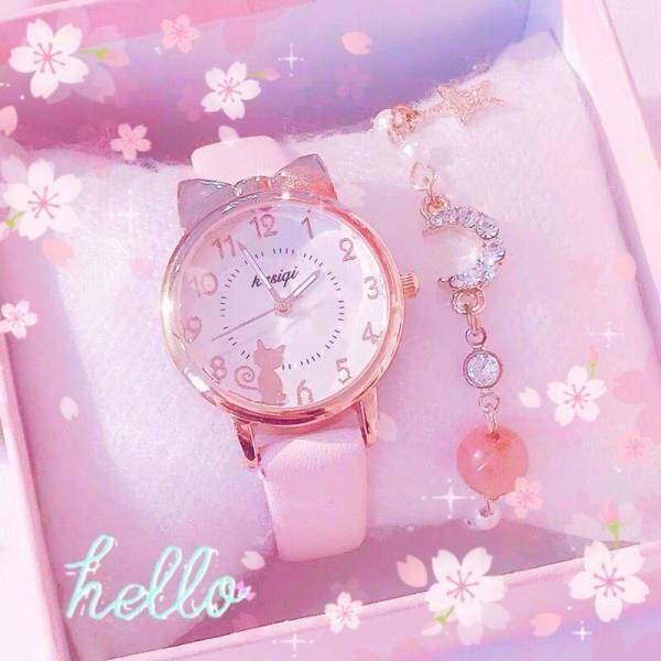 Watch Girls Little Princess Pink Luminous Cute Student Digital Electronic Quartz Watches Cartoon Korean Japanese Girl Malaysia