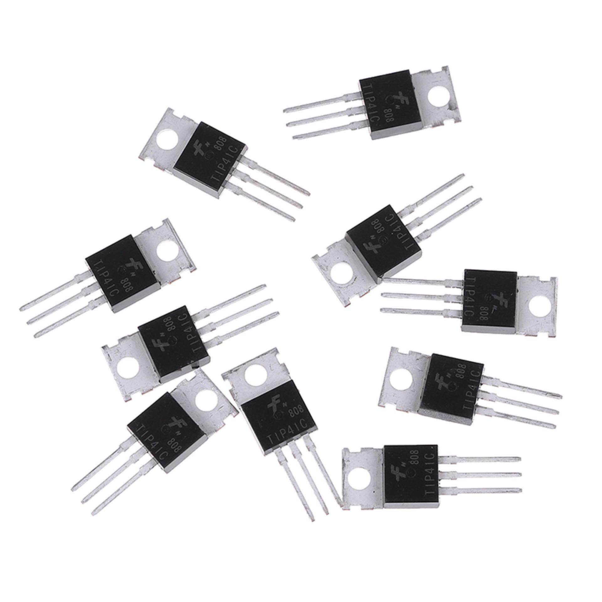 10Pcs TIP41C TIP41 NPN Transistor TO-220 New And High Quality