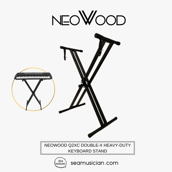 NEOWOOD Q2XC DOUBLE-X HEAVY-DUTY KEYBOARD STAND (X-KEYBOARD STAND/ ASSEMBLY TYPE DOUBLE X/ Q 2XC/ Q-2XC) Malaysia