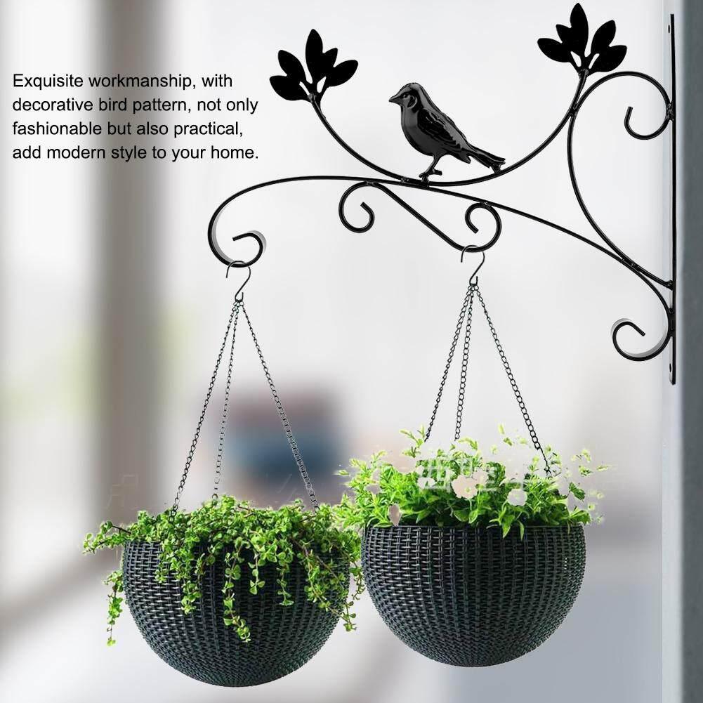 HomeH Mall Iron Wall Hanging Bracket Plant Hanger Flower Pot Hook for Home Garden Decor