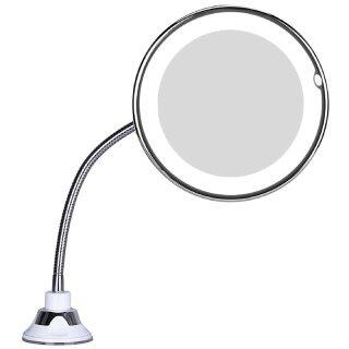 Gương Trang Điểm Led 10 Lần Gương Tròn Phòng Tắm Trang Điểm Có Đèn Với 360 Độ, Xoay Xoay Xoay, Linh Hoạt thumbnail