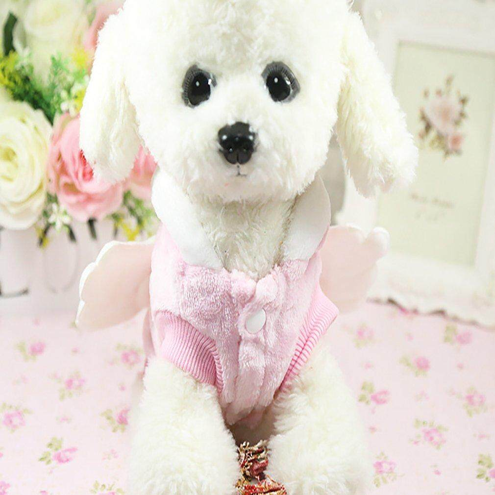 Flash Deals Comfortable Autumn Winter Angel Wing Pet Dog Clothes Flannel Dogs Clothes