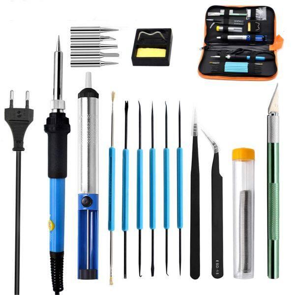 220V Adjustable EU Plug Electrical Temperature Solder Electric Soldering Irons Soldering Iron Welding Tools Wire Tweezers