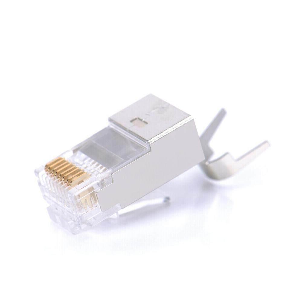 Giá Chính Hãng Vention CAT7 Pha Lê Đầu 10 Gigabit RJ45 Ethernet Mạng Đầu Cắm Mạ Vàng 8P8C Mạng Cắm 10 Chiếc