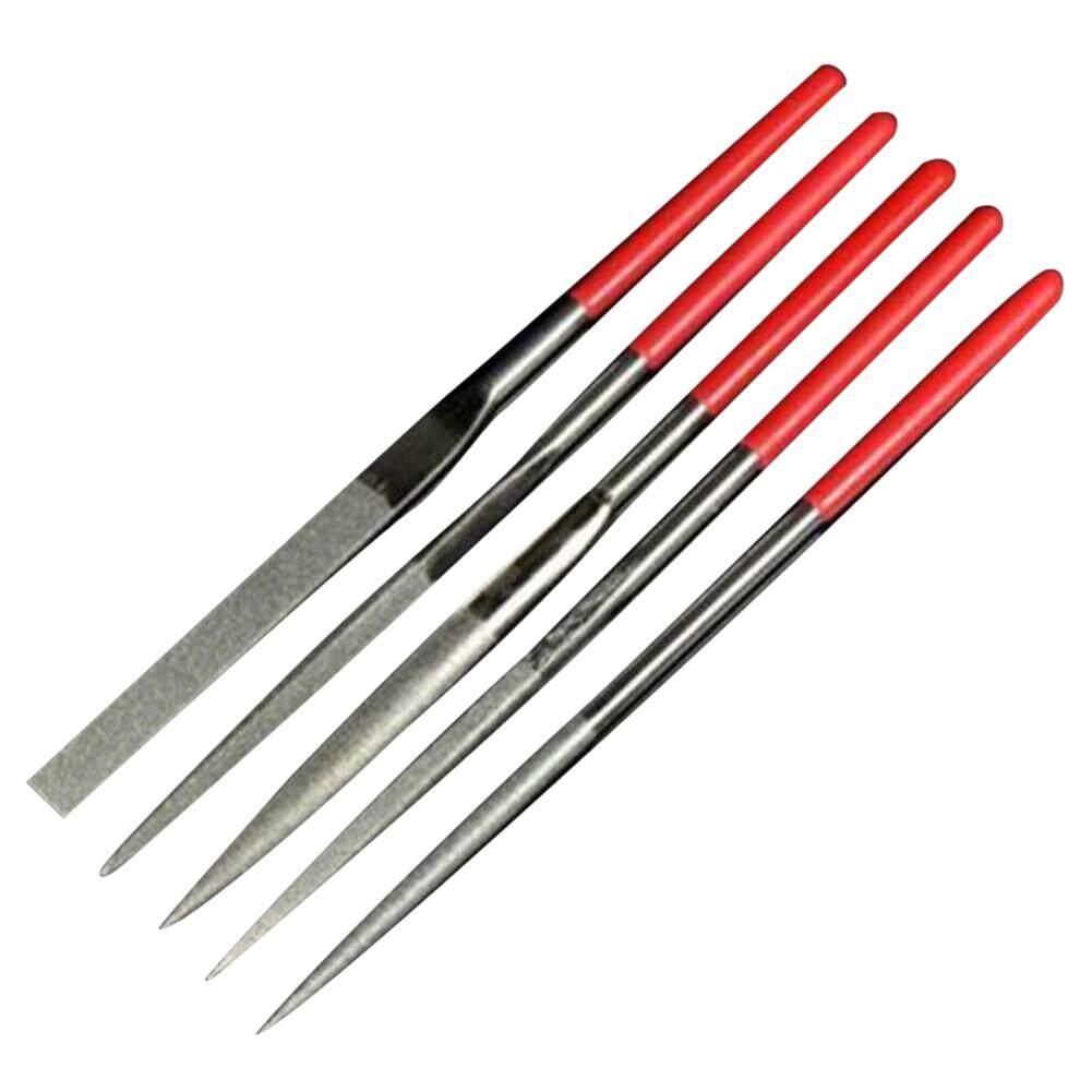 GK Diamond Needle File Set 5-Pack 140 X 3 Mm Diamond File 5 Sticks