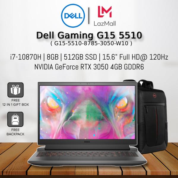 Dell Gaming G15 5510 8785-3050-W10 15.6 FHD 120Hz Gaming Laptop Black ( I7-10870H, 8GB, 512GB SSD, RTX3050 4GB, W10 ) Malaysia