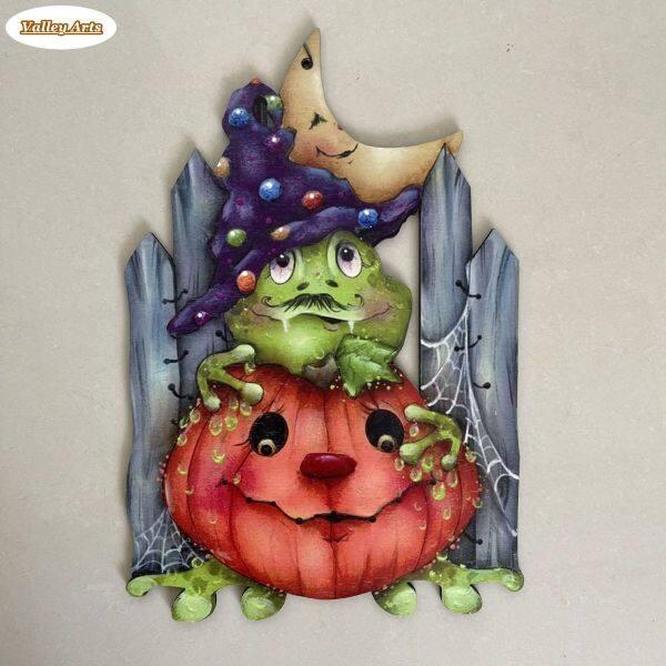 Đồ Trang Trí Treo Halloween, Ma Bí Ngô Sáng Tạo Biển Hiệu Cửa Gỗ, Để Trang Trí Hiên Nhà Phòng Khách