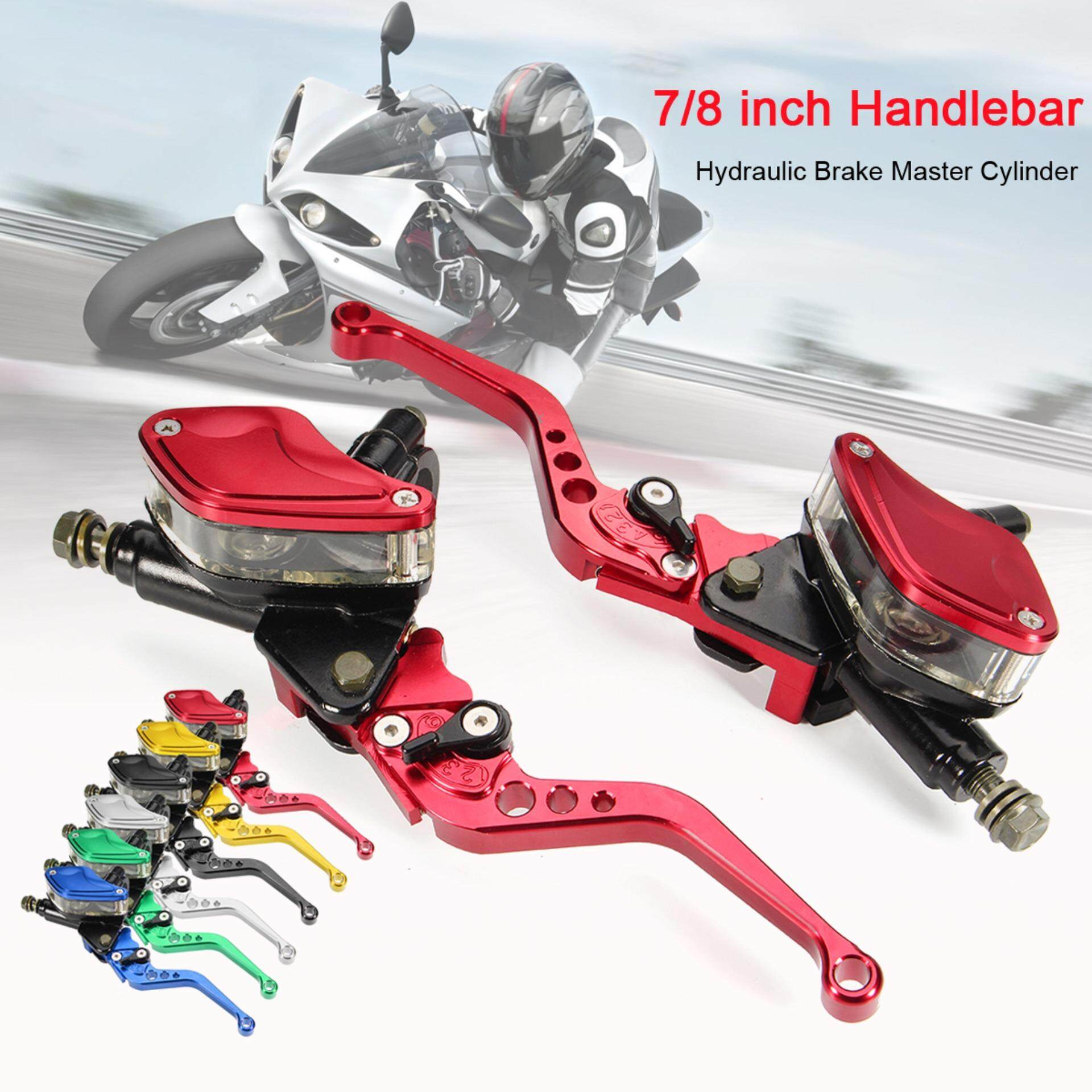 【flash Deal】universal Motorcycle Hydraulic Brake Clutch Master Cylinder Reservoir Lever Pair By Freebang.