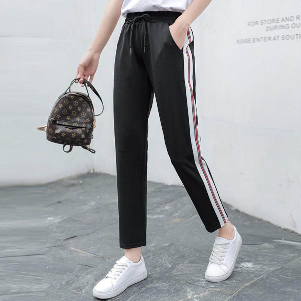 Wanita Olahraga Celana Kasual Kebugaran Yoga Garis Celana Longgar Outdoor Menjalankan Kapas Celana By Good World Store.