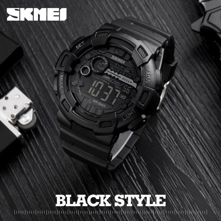 SKMEI Men Digital Wristwatches LED Display Multiple Time Zone 50M Waterproof Clock Relogio Masculino Outdoor Sports Watches 1243 Jam Tangan Lelaki/Man Malaysia