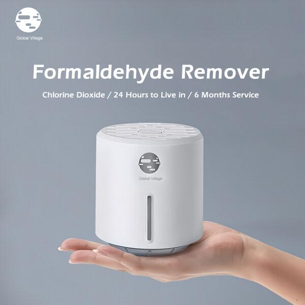 Global Village Formaldehyde Remover Box X Chlorine Dioxide Release Safe Air Purification Odor Eliminator 6 Months Service Singapore