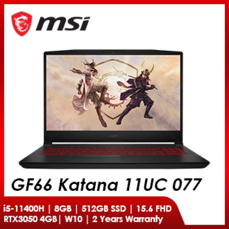 MSI GF66 11UC-077MY (i5-11400H / 8GB RAM / 512GB SSD / RTX 3050 4GB / 15.6 FHD 144Hz / W10) Malaysia