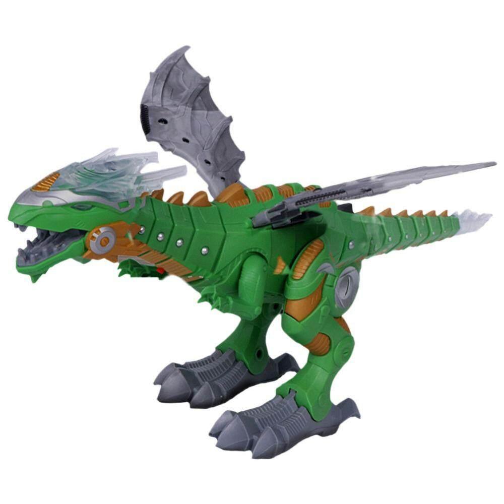 Dongxi ของเล่นไฟฟ้าขนาดใหญ่เดินสเปรย์ไดโนเสาร์หุ่นยนต์แสงเสียง Mechanical ไดโนเสาร์รุ่น Toys1.fantastic ออกแบบ By Dongxi.
