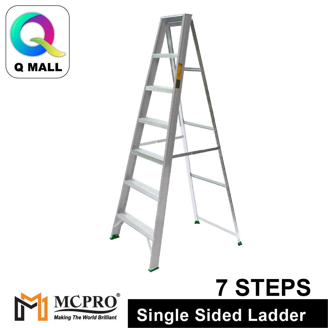 MCPRO Aluminium Single Sided Ladder 7 Steps 70 [ Max Reachable Height 311.4cm ]