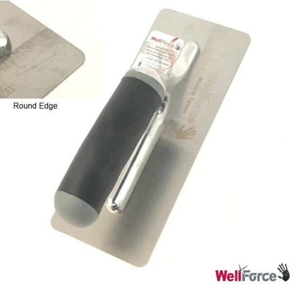 Wellforce Round Edge Trowel Plastering Scaper For Drywall Joints Ceiling Compound And Construction