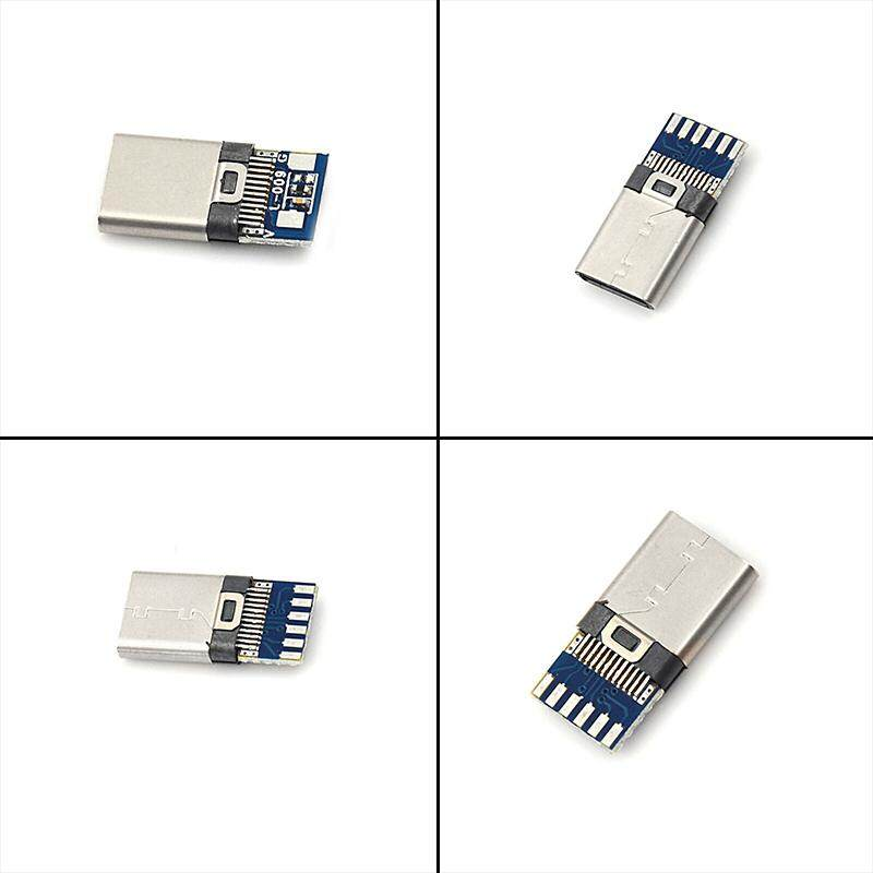YFElife 5pcs USB 3.1 Type C Male DIY Solder Cable Plug Socket Attached PC Board