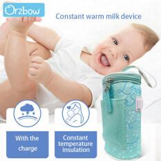Orzbow USB Warmer Cách Nhiệt Bag Xách Tay Du Lịch Cup Nóng Trẻ Sơ Sinh Bú Chai Sữa Nước Warmer Ăn Chai Tote Sản Phẩm Thân Mật