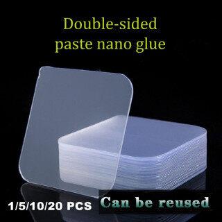 Bathtool 1 5 10 20 Cái Băng Nano Magic 6X6Cm, Băng Dán Trong Suốt Hai Mặt Móng Tay Không Đục Lỗ Tái Sử Dụng Dính Không Vết Bẩn Không Đường May Miễn Phí Thích Hợp Cho Tất Cả Các Loại Tường Vật Liệu thumbnail
