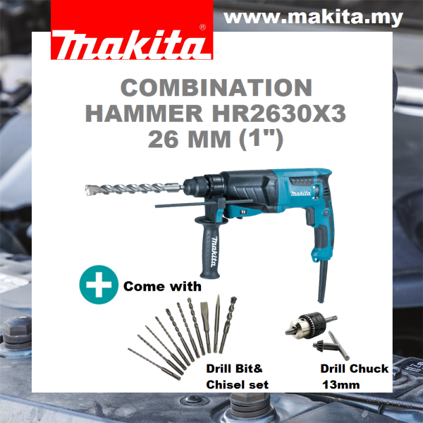 MAKITA Combination Hammer HR2630X3 26 mm (1)
