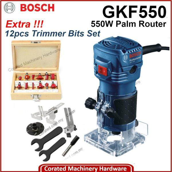 [CORATED] Bosch GKF550 Palm Router / Trimmer 1/4-6mm, 550W (6 Month Warranty) GKF 550