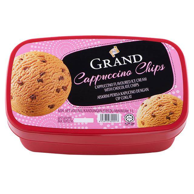 (KL & Selangor Delivery Only) F&N King's Grand Cappuccino Chips Ice Cream 1L
