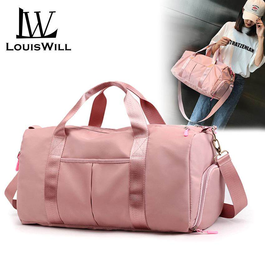 f1474cb344 LouisWill Women Travel Bag Waterproof Weekender Bags Oxford Cloth Luggages  Handbag Shoulder Bag Traveling Bag Dry and Wet Separation Sport Bag Fitness  ...