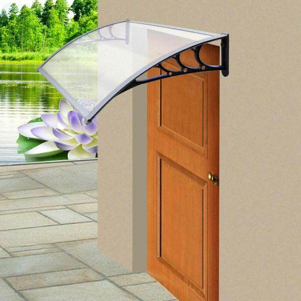 【Good Service】Door Canopy Awning Rain Shelter Front Back Porch Outdoor Shade Patio Roof