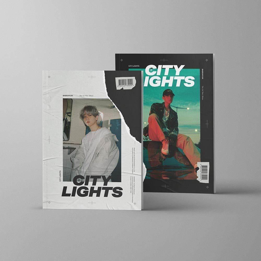 [SM] Baekhyun EXO - City Lights [Day ver.] (1st Mini Album) CD+Booklet+Folded Poster+Store gift Photocards - kpop