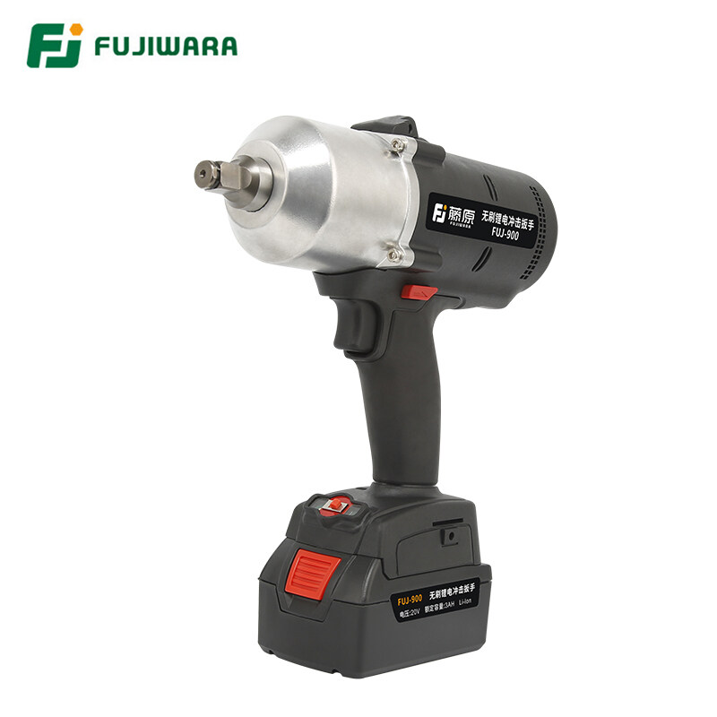 FUJIWARA 900N.M 1/2 Electric Wrench 20V Rechargeable Battery High Torque Brushless Cordless Impact Wrench