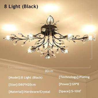 ใหม่หมายเลขแฟนซีไฟเพดาน LED คริสตัลโคมไฟเพดานแบบโมเดิร์นโคมไฟสำหรับห้องนั่งเล่นไฟ, AC110-240V DIY โคมไฟคริสตัล-
