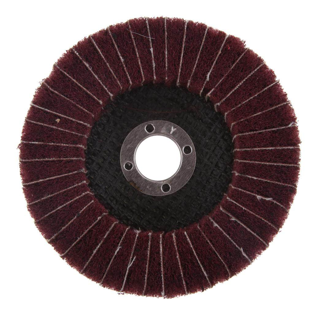 MagiDeal 2pcs Abrasive Polishing Wheel Polishing Flap Disc Durable Tool Red Color