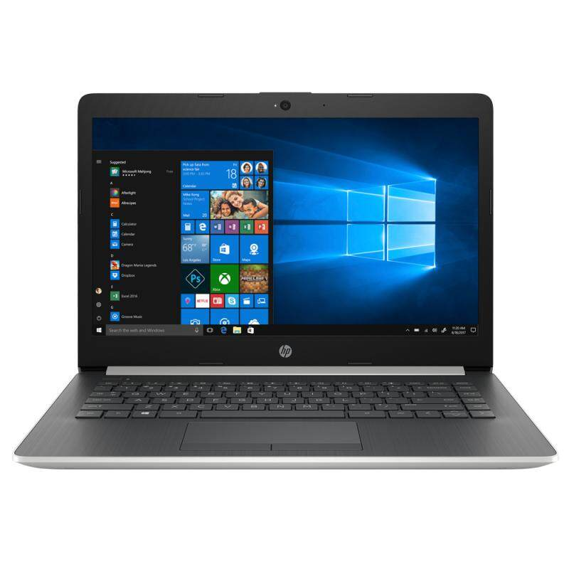 HP 14-cm0107AU (Ryzen 5-2500U (2GHz), 4GB DDR4, 1TB 5400rpm, Integrated Graphics, 14 FHD IPS, No ODD, Win 10, Natural Silver, 1.6kg, 2 Years Local Warranty by HP) Malaysia