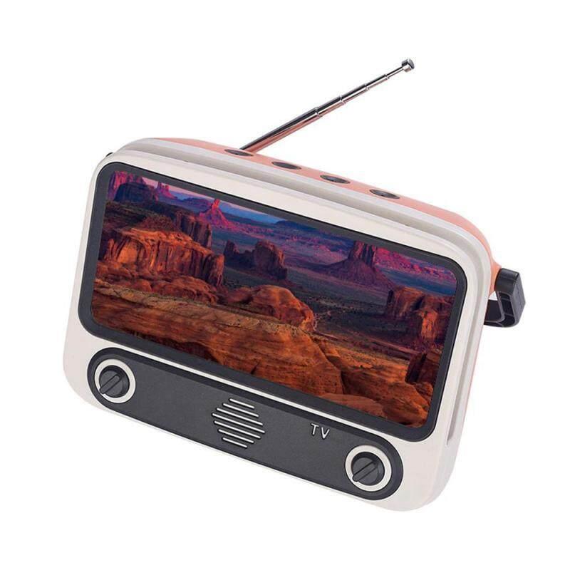 niceEshop Creative Retro Bluetooth Speaker Portable Tv Mobile Phone Bracket Tv300 Radio Card Audio Singapore