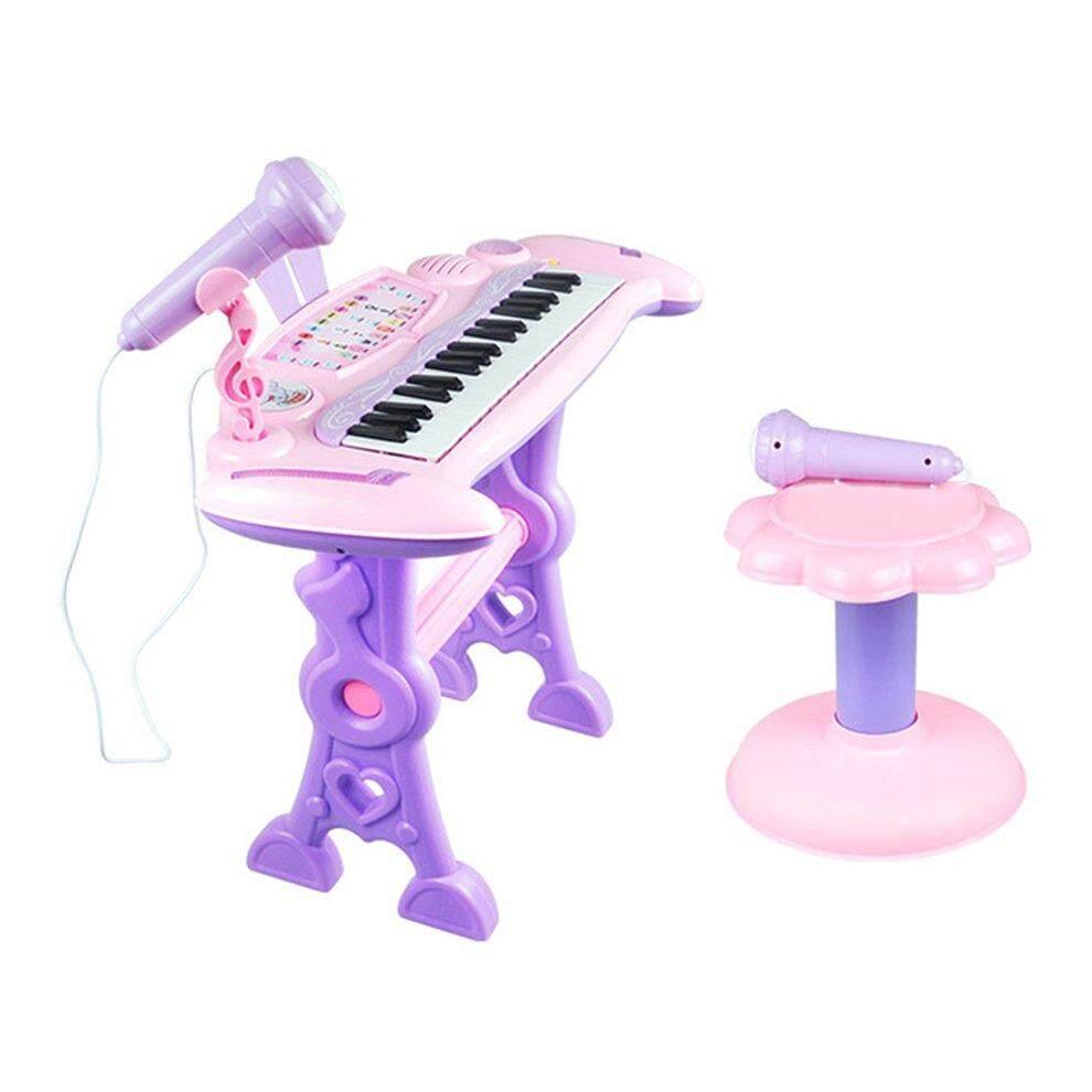 Tốt nhất Bán Nhạc 37 Phím Điện Tử Bàn Phím Đàn Piano Đồ Chơi Đàn Organ Micro Trẻ Em Đồ Chơi Giáo Dục
