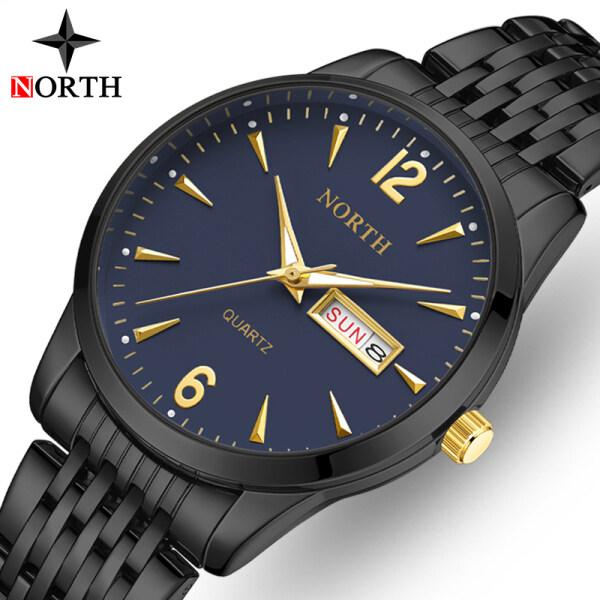 NORTH Top Brand Luxury Mens Watch Fashion Sport Quartz All-steel Formal Clock Mens Casual Waterproof Date Business Watch Malaysia