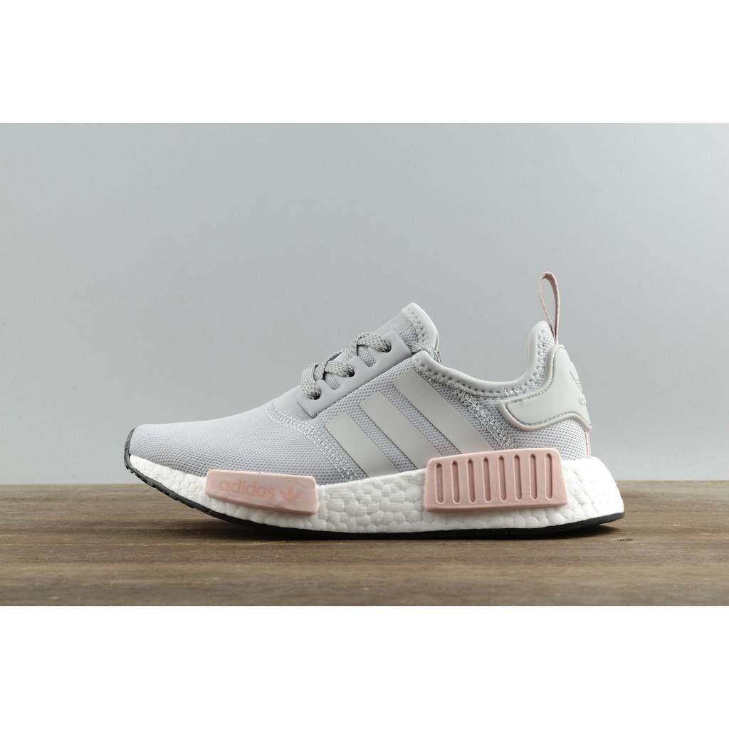 ยี่ห้อไหนดี  สุพรรณบุรี 2019 Adidas_original NMD_R1 W Real Popcorn Ash Powder Original sneakers casual running shoes GH