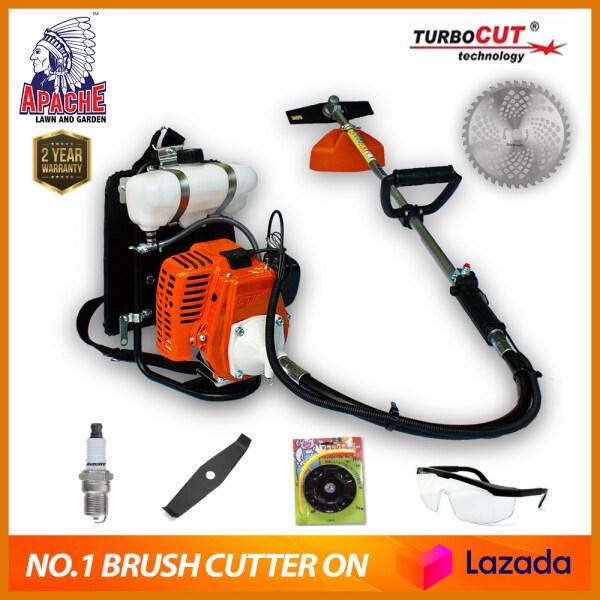 【COMBO SET】APACHE TurboCUT® WB728T | Super Heavy Duty Garden Trimmer | Backpack Brush Cutter | Grass Cutter / Mesin Rumput 32.8cc 2-Stroke + 2 YEAR WARRANTY