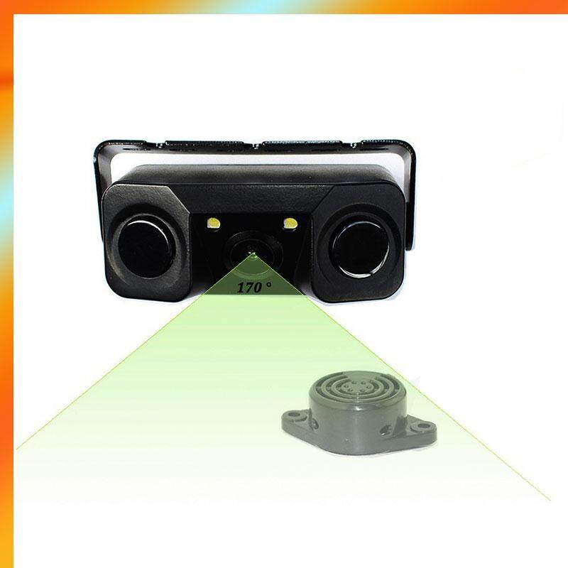 Car Parking Rear View Camera 2 Sensors Bi-Bi Alarm Auto Backup Radar Assistance