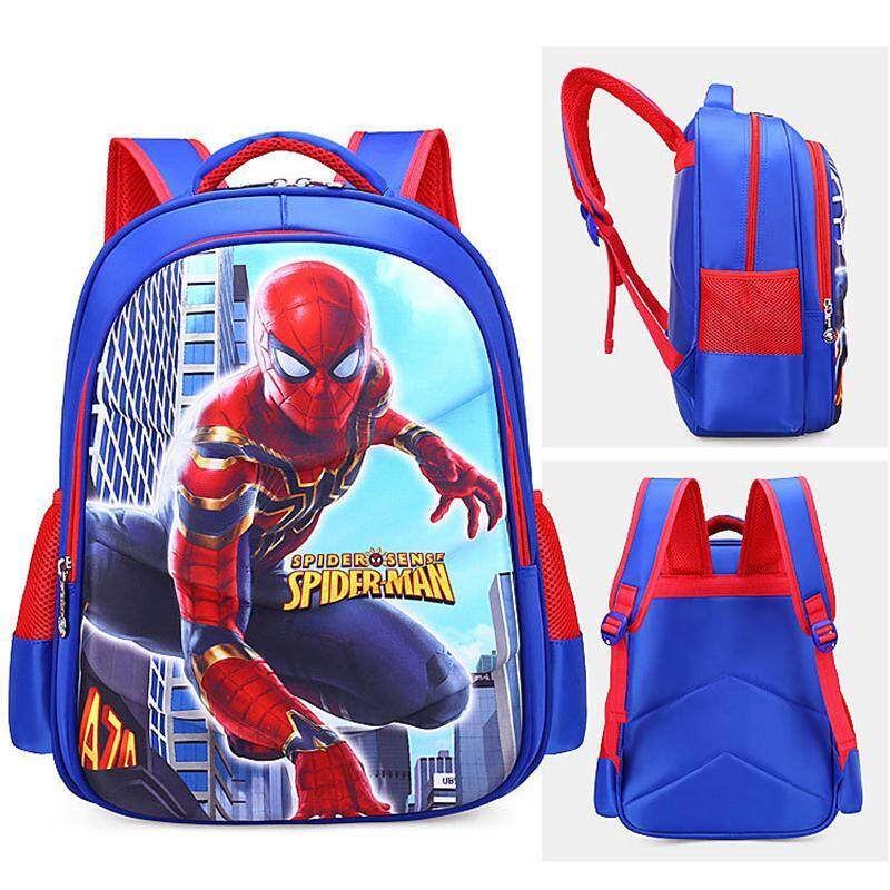 cadbf22e5926 Primary School Children Captain America Bag Anime Backpack Lightweight and  waterproof Shoulder Bags