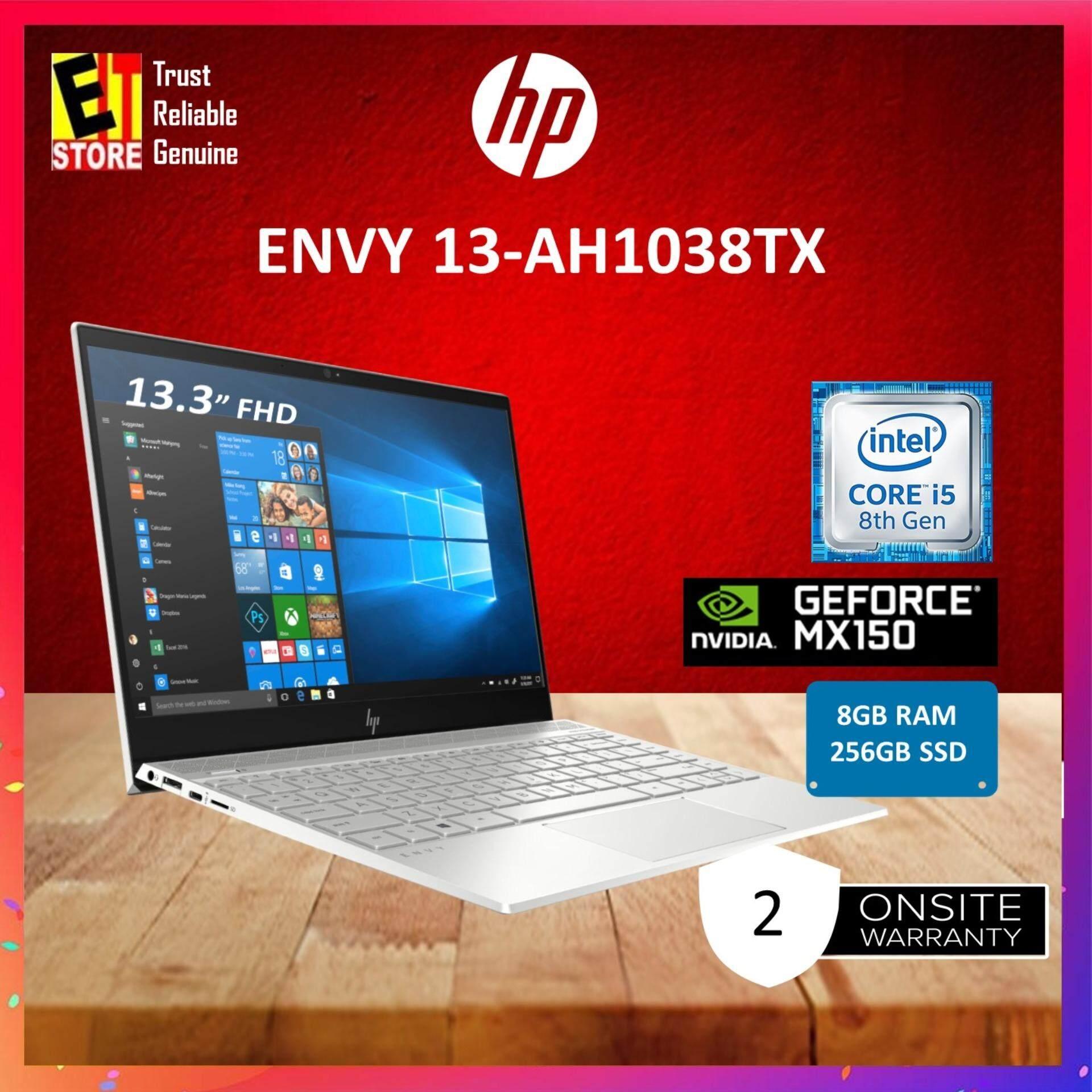 HP ENVY 13-AH1038TX (6JP42PA) SILVER (I5-8265U/8GB/256GB SSD/MX150 2GB/13.3 FHD/W10/NO ODD/2YRS) Malaysia