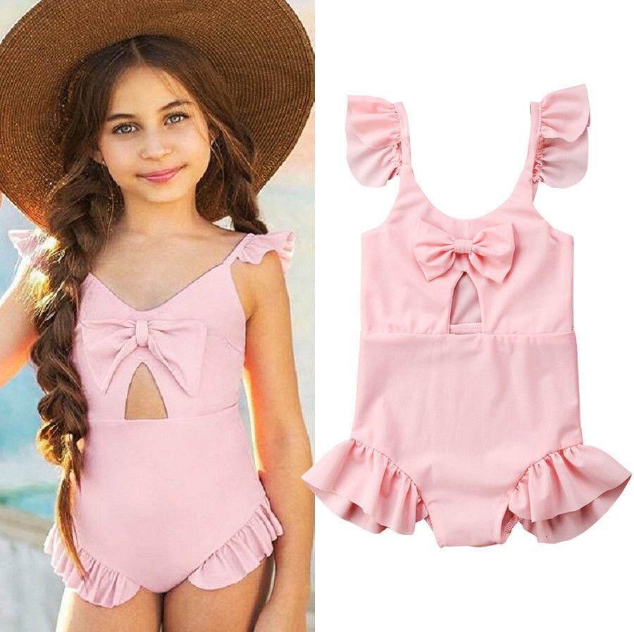 daf2b2767fdd7 Pink Toddler Kids Girls Bikini Summer Swimwear Bathing Swimsuit Swimming  Costume