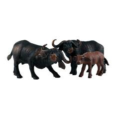 Gazechimp 3 Cái Mini Buffalo Bức Tượng Động Vật Hoang Dã Mô Hình Thực Tế, Đồ Chơi Giáo Dục Khoa Học Và Thiên Nhiên Cho Trẻ Em