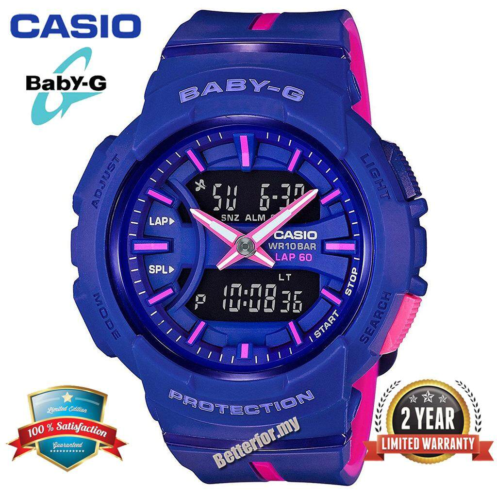 b9ed82079ebd (Ready Stock) Original Baby-G BGA240 Women Sport Watch Duo W Time 200M  Water Resistant Shockproof ...