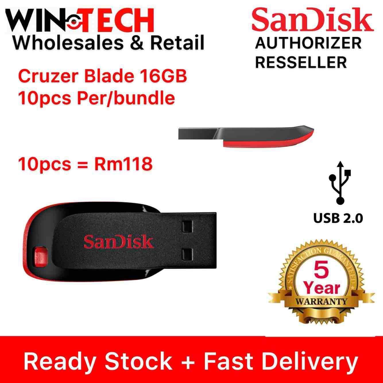 SANDISK Pendrive 16GB/32GB/64GB Cruzer Blade Flash Drive USB 2.0