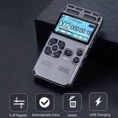 64GB Màn Hình LCD Có Thể Sạc Lại Âm Thanh Kỹ Thuật Số Âm Thanh Máy Thu Âm Xách Tay Dictaphone MP3 Máy Nghe Nhạc
